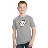 Youth Grey T-Shirt-Primary Mark
