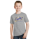 Youth Grey T Shirt-Eagles Baseball