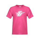 Youth Fuchsia T-Shirt-Primary Mark
