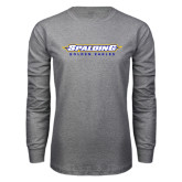 Grey Long Sleeve T Shirt-Word Mark