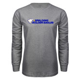 Grey Long Sleeve T Shirt-Spalding Golden Eagles