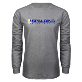 Grey Long Sleeve T Shirt-Spalding University