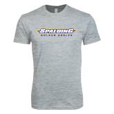 Next Level SoftStyle Heather Grey T Shirt-Word Mark