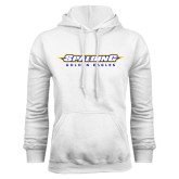 White Fleece Hoodie-Word Mark