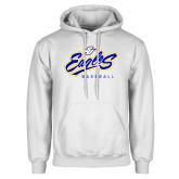 White Fleece Hoodie-Eagles Baseball