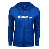 ENZA Ladies Royal Fleece Full Zip Hoodie-Spalding Golden Eagles