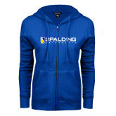 ENZA Ladies Royal Fleece Full Zip Hoodie-Spalding University
