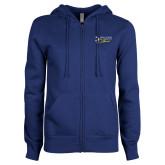 ENZA Ladies Royal Fleece Full Zip Hoodie-Spalding University Alumni