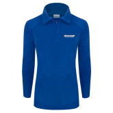 Columbia Ladies Half Zip Royal Fleece Jacket-Word Mark
