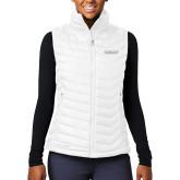Columbia Mighty LITE Ladies White Vest-Word Mark