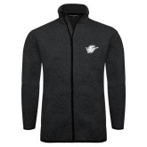 Black Heather Fleece Jacket-Primary Mark