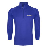 Sport Wick Stretch Royal 1/2 Zip Pullover-Word Mark