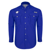 Columbia Bahama II Royal Long Sleeve Shirt-Primary Mark