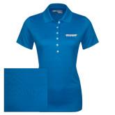 Ladies Callaway Opti Vent Sapphire Blue Polo-Word Mark