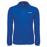 Fleece Full Zip Royal Jacket-Word Mark