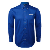 Royal Twill Button Down Long Sleeve-Word Mark