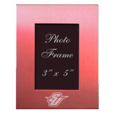 Pink Brushed Aluminum 3 x 5 Photo Frame-Primary Mark Engraved