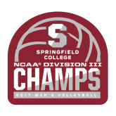Medium Decal-NCAA III Mens Volleyball Champs