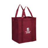 Non Woven Maroon Grocery Tote-Springfield College Athletics