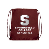 Maroon Drawstring Backpack-Springfield College Athletics