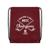 Maroon Drawstring Backpack-2018 Mens Golf Champions