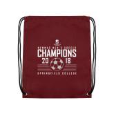 Maroon Drawstring Backpack-NEWMAC Mens Soccer Champions
