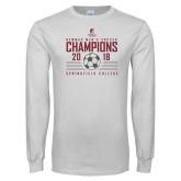 White Long Sleeve T Shirt-NEWMAC Mens Soccer Champions
