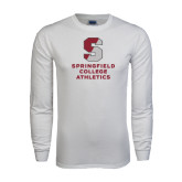 White Long Sleeve T Shirt-Springfield College Athletics