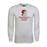 White Long Sleeve T Shirt-Springfield College Pride
