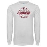 White Long Sleeve T Shirt-NCAA III Mens Volleyball Champs