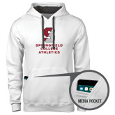 Contemporary Sofspun White Hoodie-Springfield College Athletics