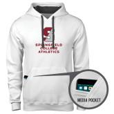 Contemporary Sofspun White Hoodie-Springfield College Athletics