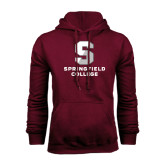 Maroon Fleece Hoodie-Official Logo
