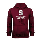 Maroon Fleece Hoodie-Springfield College Athletics