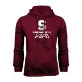 Maroon Fleece Hoodie-Springfield College Athletics