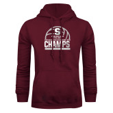 Maroon Fleece Hoodie-NCAA III Mens Volleyball Champs