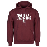 Maroon Fleece Hoodie-D3 Mens Volleyball National Champions
