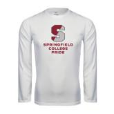 Syntrel Performance White Longsleeve Shirt-Springfield College Pride