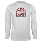 Syntrel Performance White Longsleeve Shirt-NCAA III Mens Volleyball Champs