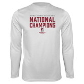 Performance White Longsleeve Shirt-D3 Mens Volleyball National Champions