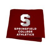 Maroon Sweatshirt Blanket-Springfield College Athletics
