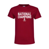 Youth Maroon T Shirt-D3 Mens Volleyball National Champions