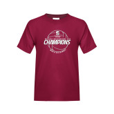 Youth Maroon T Shirt-NCAA III Mens Volleyball Champs