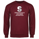 Maroon Fleece Crew-Springfield College Athletics