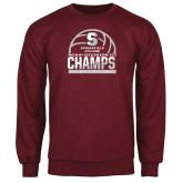 Maroon Fleece Crew-NCAA III Mens Volleyball Champs