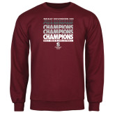 Maroon Fleece Crew-NCAA III Mens Volleyball Champs