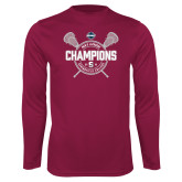 Performance Maroon Longsleeve Shirt-2018 Mens Lacrosse Champions