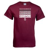 Maroon T Shirt-NCAA III Mens Volleyball Champs