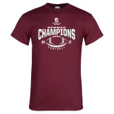 Maroon T Shirt-2017 NEWMAC Football Champions Arched