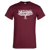 Maroon T Shirt-D3 Mens Volleyball National Champions